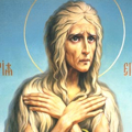 Когда спасительная сила Божия озарила преподобную Мария,и она раскаялась в своей греховной жизни, то Бог сразу услышал её и не считал уже нечистой, но позволил поклониться Кресту. Она не стала советоваться с «плотью и кровью», но обратилась в молитве к Пресвятой Богородице, чтобы узнать, что ей делать дальше. Ведь в прежней жизни она целиком полагалась на своё искусство, от которого теперь отказывалась.