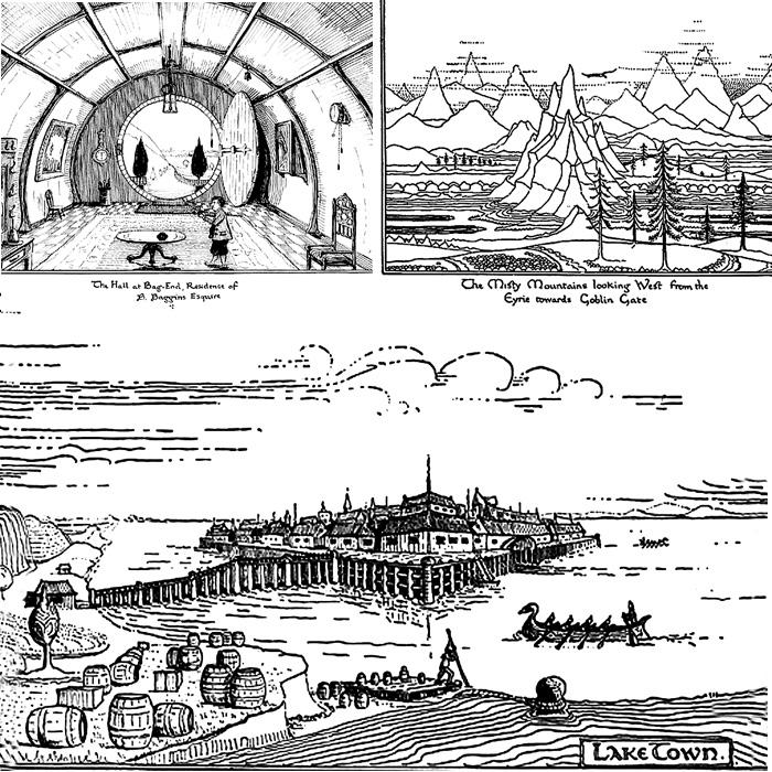 Иллюстрации Дж. Р. Р. Толкина к книге «Хоббит»