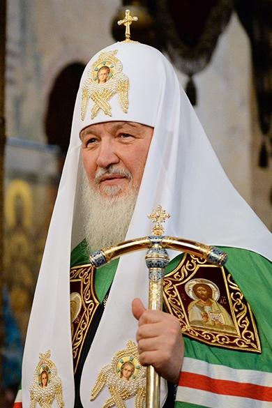 Патриарх Кирилл в праздник Введения