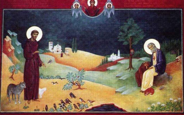 Святой Франциск Ассизский и преподобный Серафим Саровский