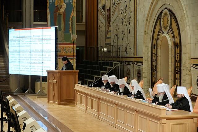 Делегация Санкт-Петербургской православной духовной академии во главе с ректором приняла участие в заседании пленума Межсоборного Присутствия