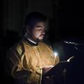 Всенощное бдение накануне дня памяти Трех Святителей в храме академии возглавил митрополит Черногорско-Приморский Амфилохий