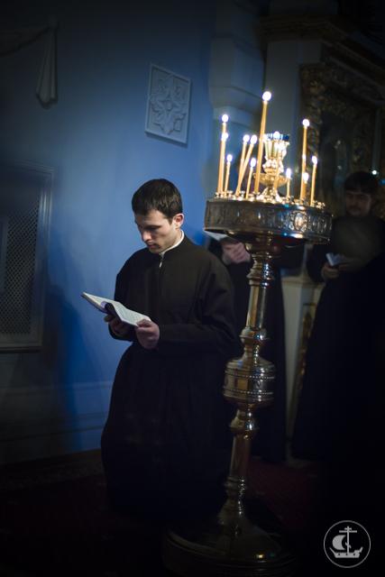 В Духовной академии прочитана первая часть Великого покаянного канона
