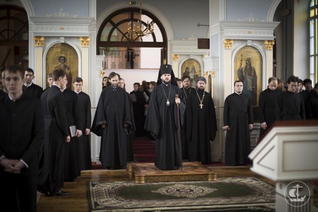 В духовной академии совершены богослужения Понедельника первой седмицы Великого поста