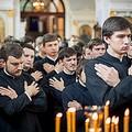В Великий Четверг учащиеся Духовной академии приступили к Таинству Причащения