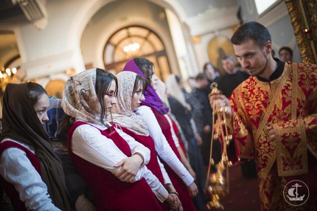 Паломники из Черногории молились за богослужением в Духовной академии