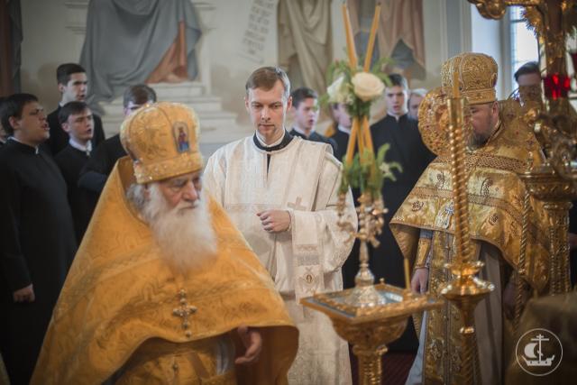 В день выпуска в Духовной академии совершена Божественная литургия