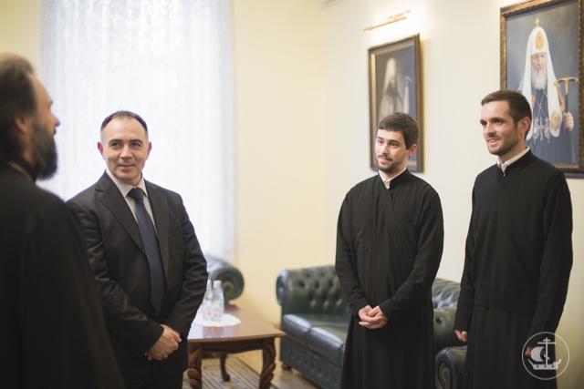 Архиепископ Амвросий встретился с ректором Университета г. Скопье