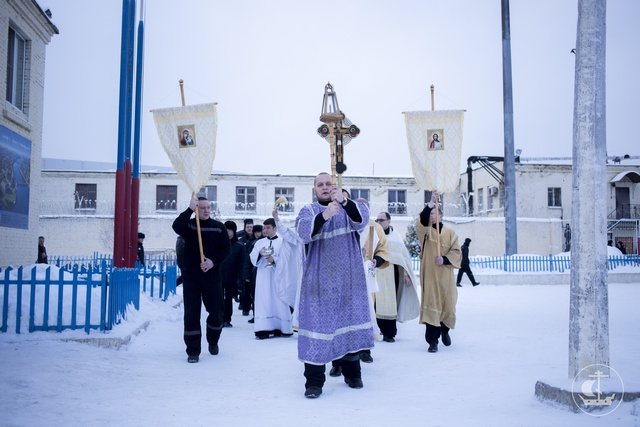 В праздник Крещения Господня студенты Духовной Академии посетили заключенных в исправительной колонии