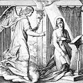 """Пресвятая Богородица преподала нам самый главный урок в жизни – урок внимательности к Богу, смиренной тишины внутри сердца, в котором нет гула и гама страстей, в котором Свете Тихий и радость благодати. Во имя Отца и Сына и Святого Духа! «Се, Дева во чреве приимет и родит Сына, и нарекут имя Ему Еммануил, что значит: с нами Бог». Эти слова были сказаны пророком Исаией царю Ахазу. После грехопадения прародителей Адама и Евы, Господь дает завещание о Спасителе мира. Пять тысяч лет богоизбранный народ ждал исполнения обетования. И вот оно свершилось. С момента явления ангела Дeве Марии начинаeтся совeршенно новая страница в жизни человечества. Именно c этого момента начинается евангельская история. Пречистая становится той самой дверью, через которую войдет Христос Избавитель мира. События Благовещения описаны единственным евангелистом – апостолом Лукой. Итак, город Назарет, расположенный в Галилее — северной области Иудеи. Здесь поселились Мария и праведный Иосиф. Именно тут и происходит событие Благовещения. Архангел Гавриил, посланный Богом к Деве Марии с вестью о грядущем рождении от Нее Спасителя мира. Явившись Ей, архангел приветствует ее словами """"Радуйся, благодатная, Господь с Тобою. Благословенна Ты в женах"""". Вслед за этим приветствием Гавриил возвещает Деве Марии спасительную всему миру радость, что Она обрела величайшую благодать у Бога - быть Материю Сына Божия. Мария, увидев в словах ангела волю Божью, произносит: «се, Раба Господня; да будет Мне по слову твоему». Когда Дева Мария произносит свое согласие, это и есть миг девственного (непорочного) зачатия; как при сотворении мира слово Бога «да будет» приводило создания к бытию, так Ее слово «да будет» низводит Бога в мир. По толкованию священномученика Иринея Лионского, начиная со II века Благовещение рассматривали как первый акт искупления в христианской истории, в котором послушание Девы Марии уравновешивает непослушание Евы. Мария становится «новой Евой». Блаженный Иероним выразил эту тайну в нескольки"""
