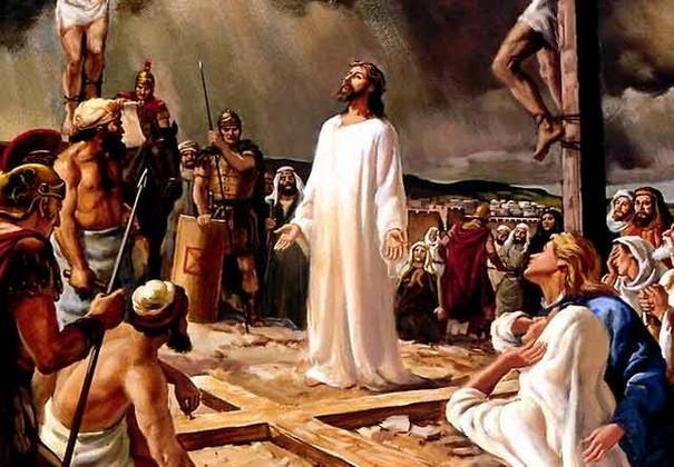 """Последними словами Господа на Кресте стала фраза: """"Свершилось!"""" В следующий раз Его уста разомкнутся для того, чтобы приветствовать учеников словами: """"Мир вам"""". Но это будет уже в воскресшем и прославленном теле. И те, кто слышали это """"Свершилось"""", были немало удивлены, потому что это было свидетельство не просто завершения Его земной жизни, а завершения Его страданий. Смысл здесь значительно существенен."""
