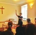 Мужской хор СПбПДА принял участие в мастер-классе по Григорианскому пению