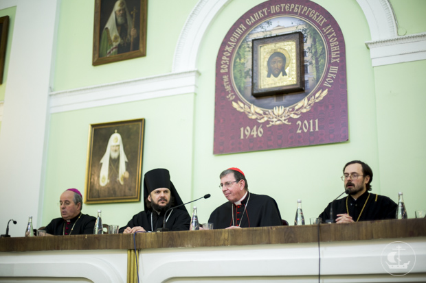 Санкт-Петербургскую православную духовную академию посетил кардинал Курт Кох, председатель Папского Совета по содействию Христианскому Единству