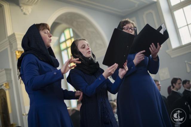 В Духовной Академии совершена вечерняя Литургия Преждеосвященных Даров