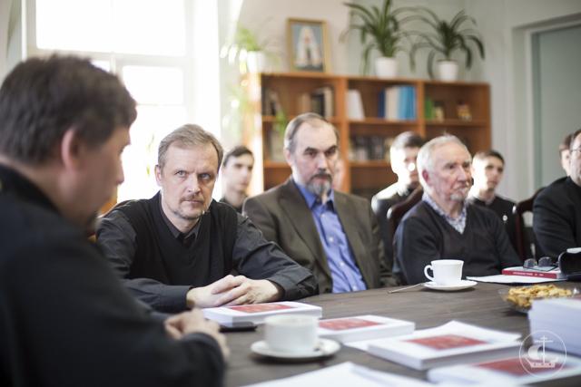 В Книжной гостиной прошло заседание Византийского кабинета и презентация «Христианского чтения»