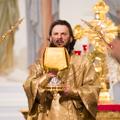 Епископ Амвросий возглавил служение Литургии и совершил диаконскую хиротонию в храме СПбПДА
