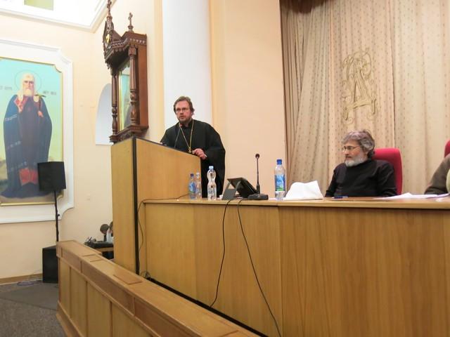 Преподаватель Санкт-Петербургской православной духовной академии принял участие в работе круглого стола «Шестоднев и его контекст»