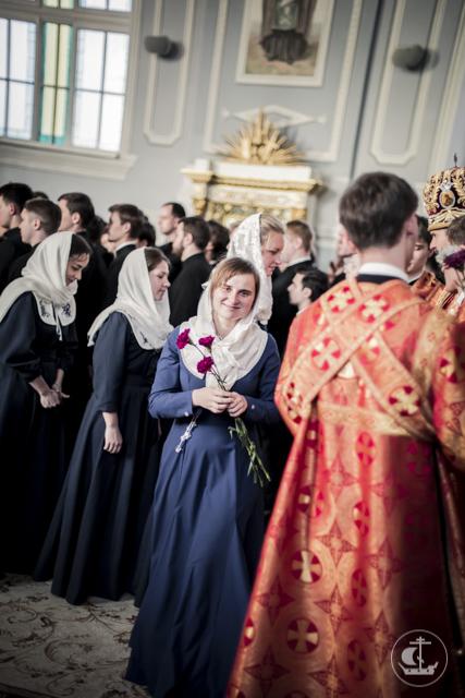 Накануне Христианского женского дня в Духовной Академии совершено богослужение
