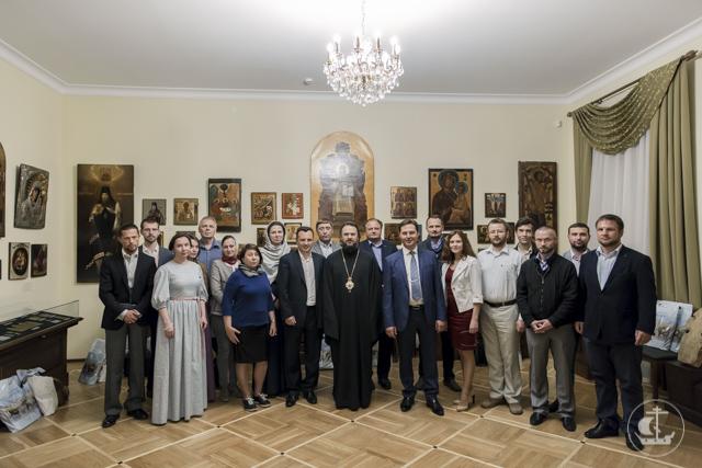 Члены Петербургского Союза Православных предпринимателей и участники АЭФ - 2016побывали в гостях в Духовной Академии