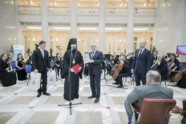 Архиепископ Петергофский Амвросий посетил Президентскую библиотеку в седьмую годовщину её открытия
