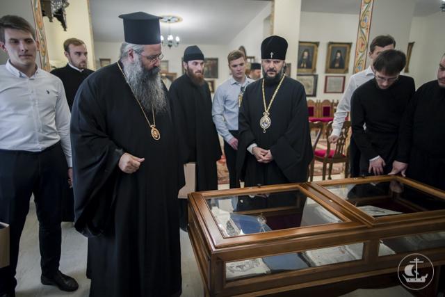 Делегация Духовной Академии молилась на монашеском постриге в обители св. Дионисия Олимпийского (Греция)
