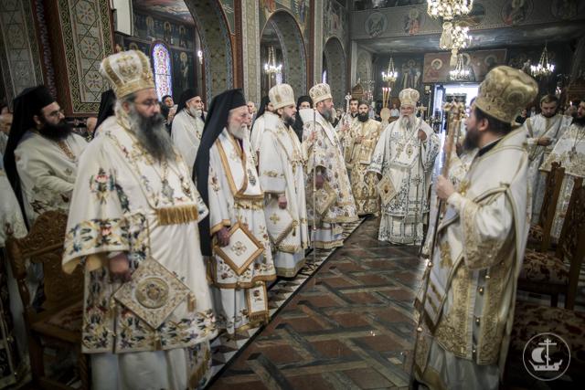 Архиепископ Амвросий и студенты Академии встретили праздник Вознесения Господня в г. Катерини, Греция