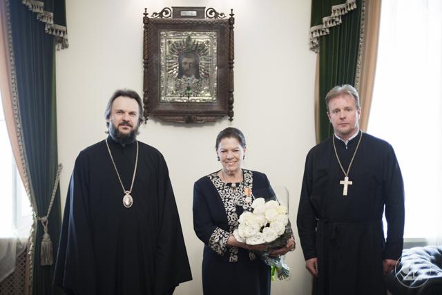 Княгиня Ирина Строцци награждена медалью апостола и евангелиста Иоанна Богослова