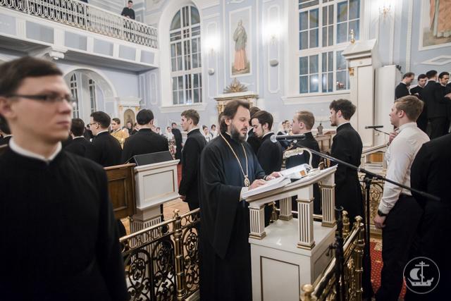 Архиепископ Солнечногорский Сергий возглавил всенощное бдение в домовом храме Академии