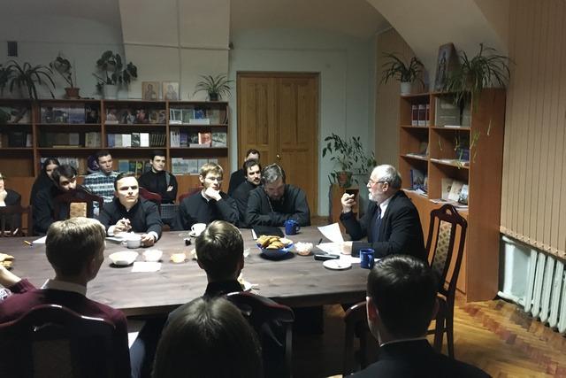 Профессор Мирко Томасович прочитал две лекции в Духовной академии