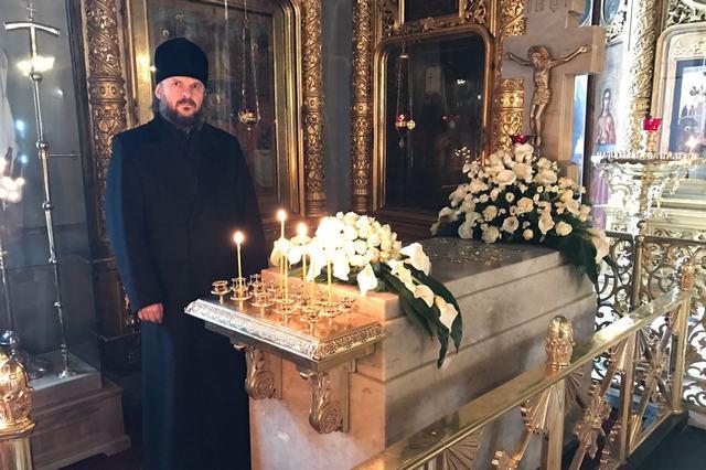 Ректор Духовной Академии молитвенно почтил память Патриарха Сергия (Страгородского)