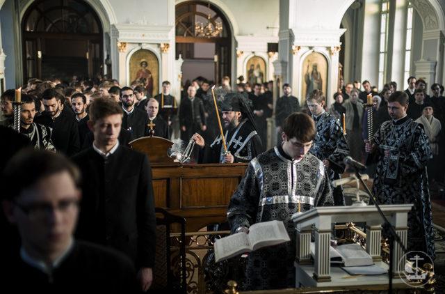 В Духовной Академии совершена последняя в этом году Литургия Преждеосвященных Даров