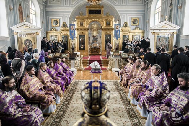Все учащиеся Академии приступили к Таинству Евхаристии