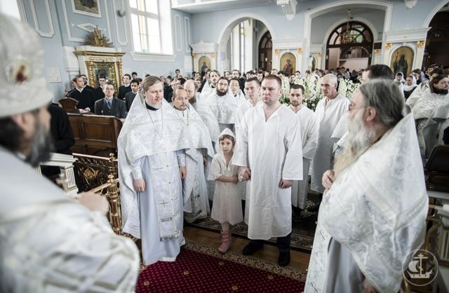 Оглашенные приняли Таинство Крещения