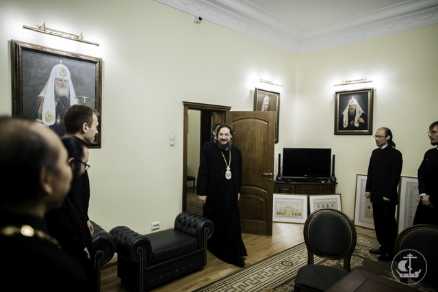 Архиепископ Солнечногорский Сергий встретился со студентами Академии из стран Юго-Восточной Азии