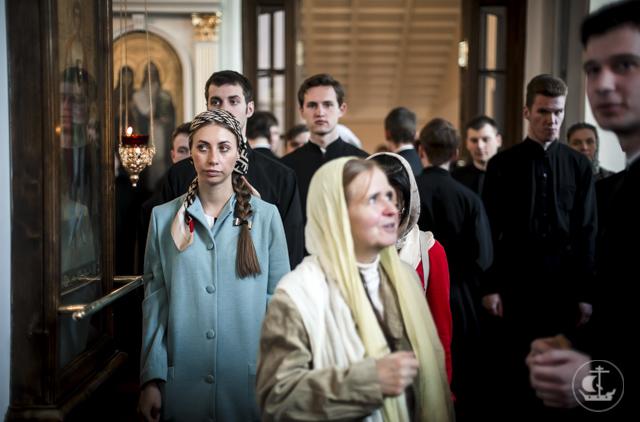 Архиепископ Амвросий совершил всенощное бдение накануне престольного праздника