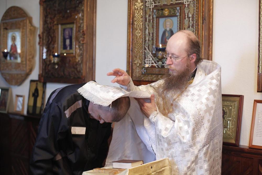 В праздник Вознесения Господня учащиеся Академии совершили в исправительной колонии Литургию