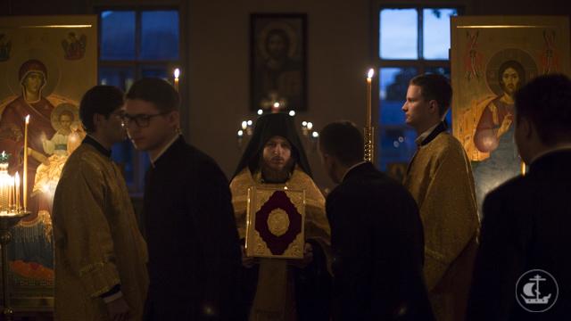 В день памяти всех русских святых в Академии прошло уставное бдение с Литургией