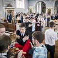 Поступающие в Академию вместе помолились за воскресным богослужением
