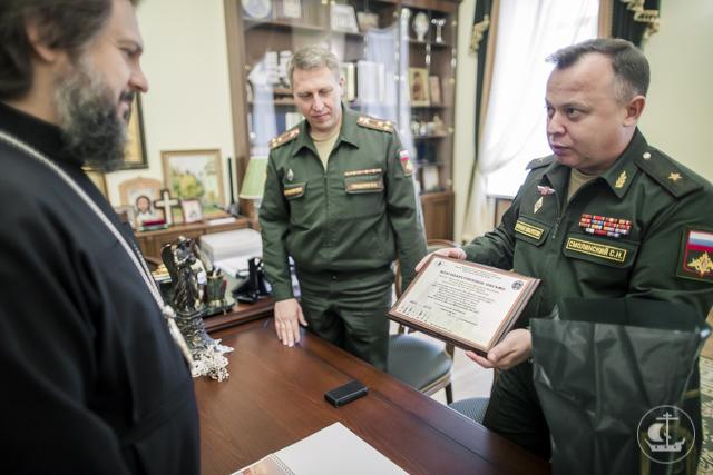 Генерал-майор С.Н. Смолинский посетил Духовную Академию