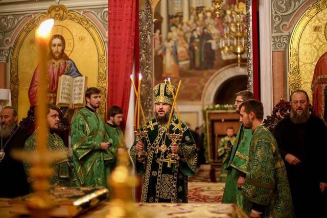 Архиепископ Амвросий принял участие в праздновании Актового дня в Киевской Духовной Академии