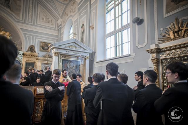 В Неделю 24-ю по Пятидесятнице в трёх домовых храмах Духовной академии прошли воскресные богослужения