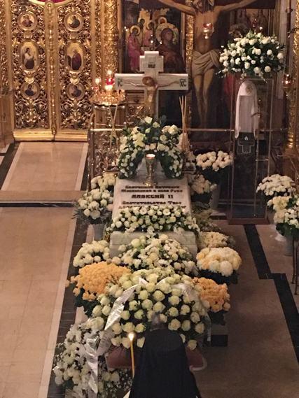Ректор Духовной Академии в день кончины Святейшего Патриарха Алексия II принял участие в заупокойном богослужении в Богоявленском соборе г. Москвы