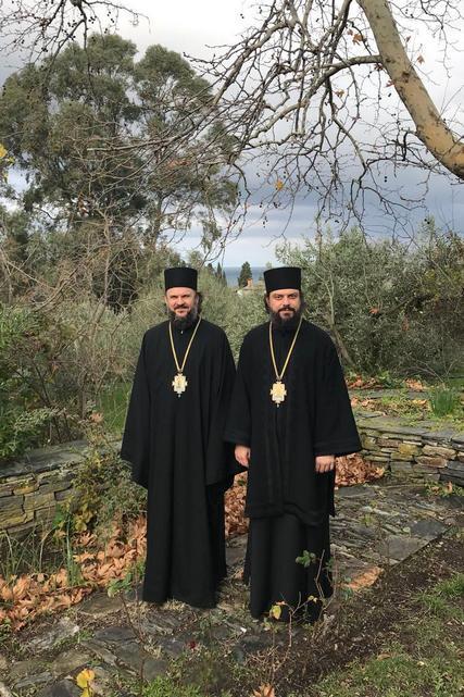 Паломники из Духовной Академии посетили келью старца Иосифа Ватопедского