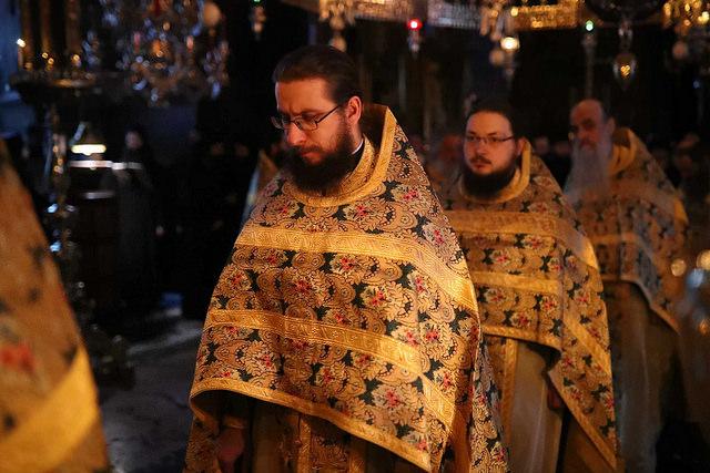 В день памяти святых Ватопедских ктиторов архиепископ Амвросий совершил Литургию на Святой Горе Афон