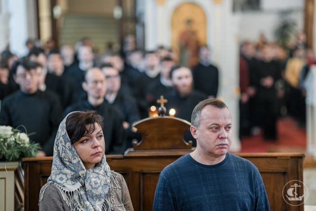 В день памяти Собора новомученников и исповедников Русской Церкви богослужения в академическом храме возглавили четыре архиерея