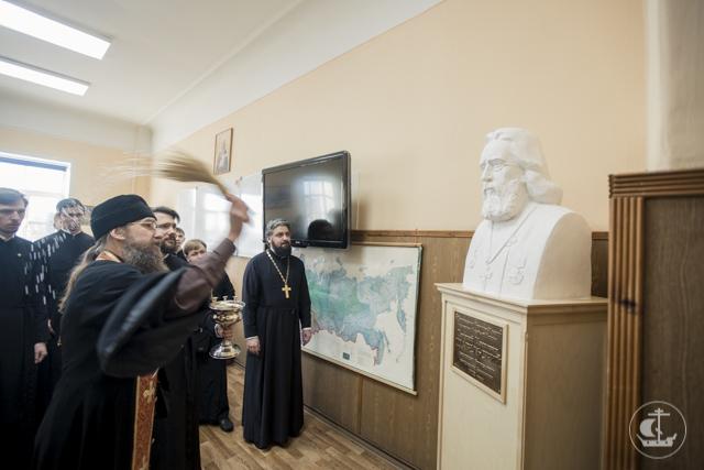 В Духовной Академии освящены бюсты протопресвитерам военно-морского духовенства