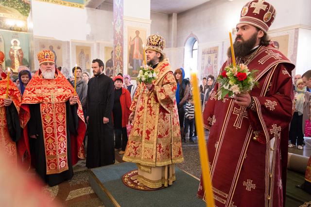 Архиепископ Амвросий принял участие в престольных торжествах кафедрального Спасского собора Пятигорска