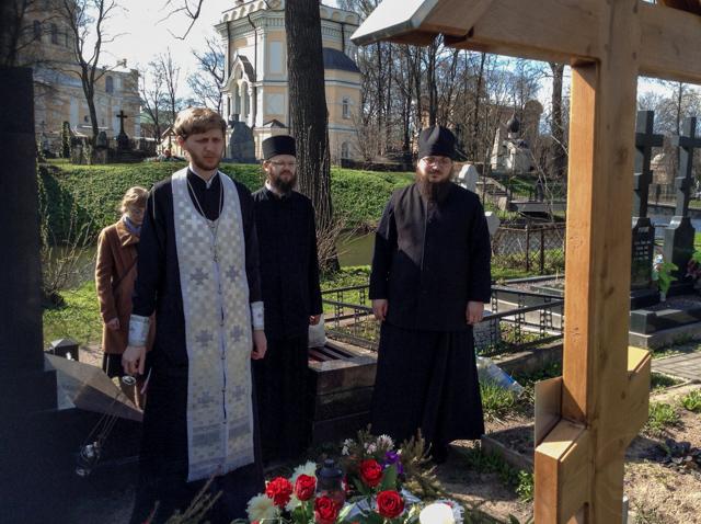 Духовенство и студенты Академии посетили могилу архимандрита Ианнуария (Ивлиева)