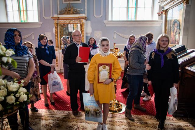 Архиепископ Амвросий наградил дипломами школьников – финалистов и победителей олимпиад