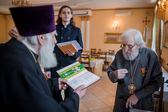 Заслуженный профессор Духовной Академии награжден орденом преподобного Сергия Радонежского I степени